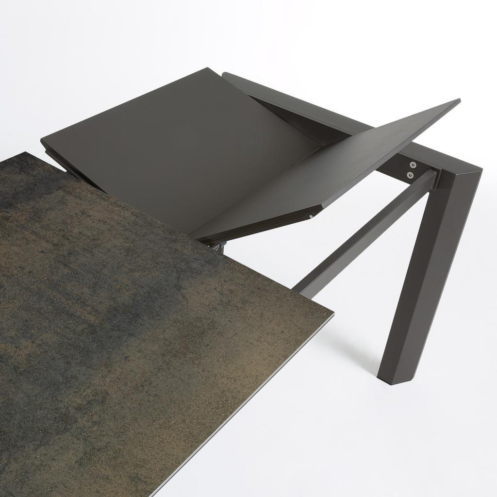 Moderne Uitschuifbare Eetkamertafels.Eettafel Atta Verlengbaar 120 Tot 180 Cm Keramiek Iron Moss La